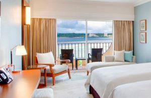 Вид из окна отеля Hilton Guam