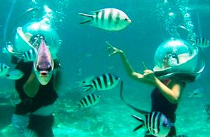 пешая прогулка под водой Гуам
